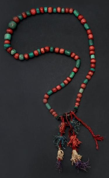 Chapelet, Anti Atlas en perles de turquoise...