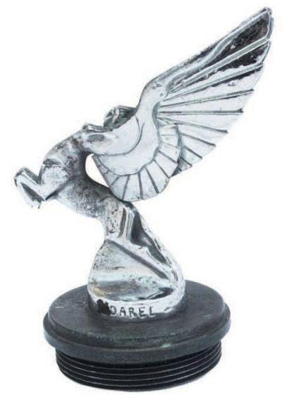 «Centauresse l'éclair» signé Darel, en bronze nickelé France 1925 / 30