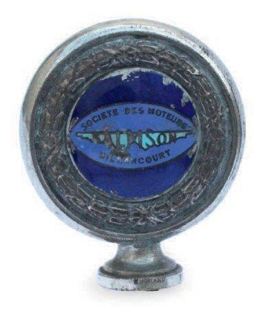 «Bouchon thermomètre» de marque Salmson, en bronze et émail, accidents