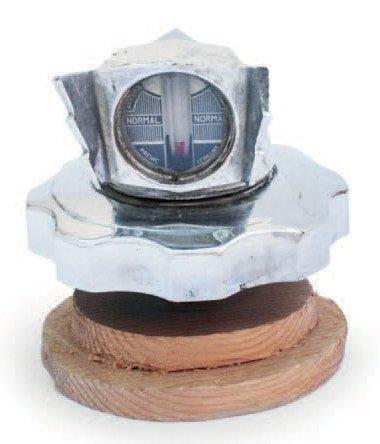 «Aile thermomètre» en métal chromé
