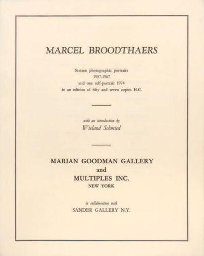 MARCEL BROODTHAERTS (1924-1976)
