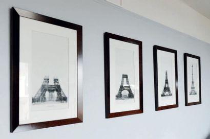 4 Étapes de la construction de la Tour Eiffel...
