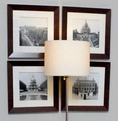 Ensemble de 4 reproductions photographiques...