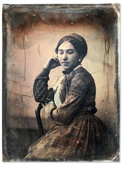 Auguste Mestral et Gustave Le Gray Modèle d'atelier (Mme Le Gray) 1848 Daguerréotype...
