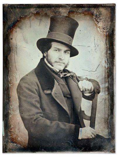Auguste Mestral et Gustave Le Gray Portrait d'un personnage en haut de forme (Frédéric...