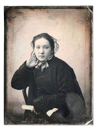 Auguste Mestral et Gustave Le Gray Portrait de femme (Céline Cerf) 1848 Daguerréotype...