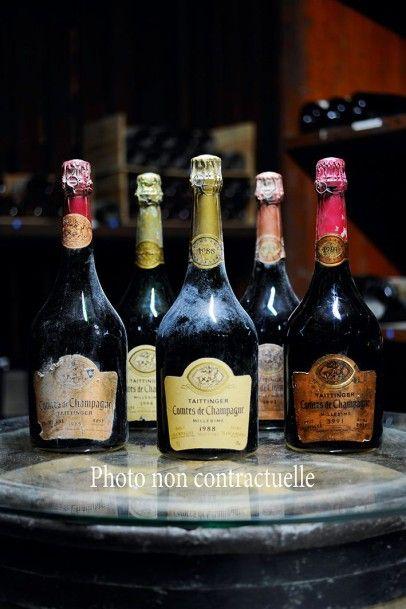 8 Bouteilles Champagne Brut Cordon Rose 1985...