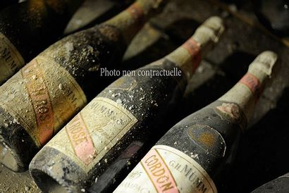 2 Bouteilles Champagne Brut Dom Ruinart 1996...