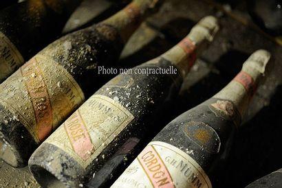 6 Bouteilles Champagne Brut Cristal 2005...
