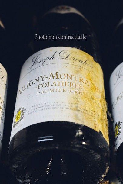 12 Bouteilles Puligny-Montrachet Vieilles...