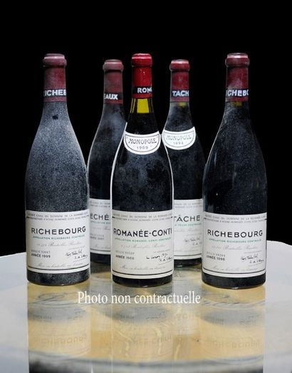 12 Bouteilles Vosne-Romanee Premier Cru 1991...