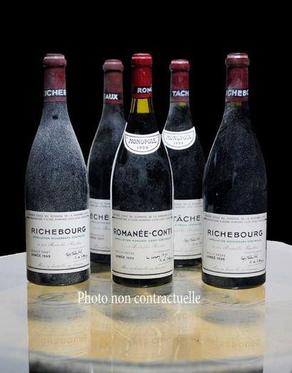 Lot panaché comprenant: - 7 Bouteilles Vosne-Romanee...