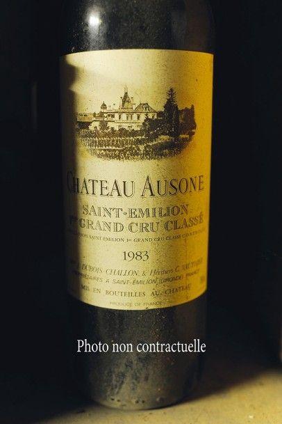 2 Bouteilles Château Ausone 1979 GCC1A Saint-Emilion...