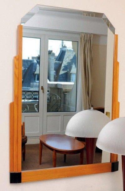 Miroir de style Art Déco. H_98 cm L_70 c...