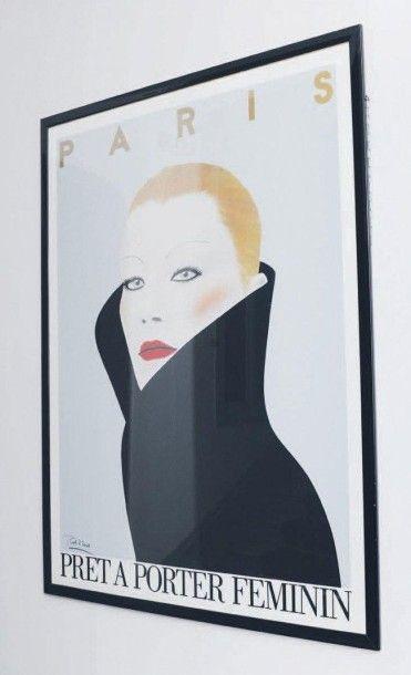Affiche encadrée Prêt-à-porter Féminin Paris....