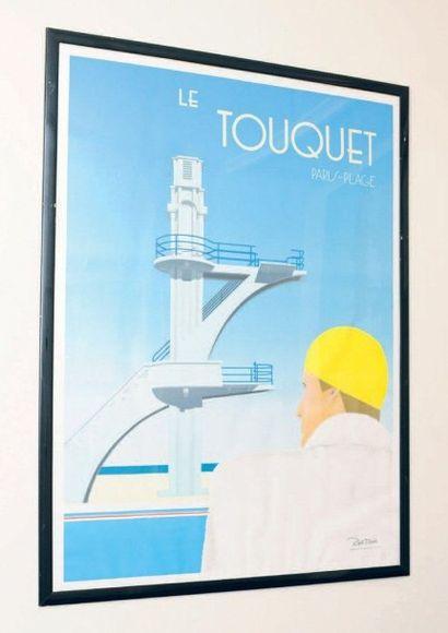 Affiche encadrée d?après Razzia Le Touquet....
