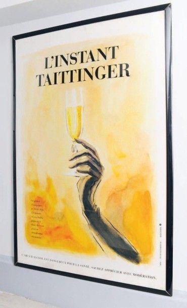Affiche «Instant Taittinger» (taches) H_174...