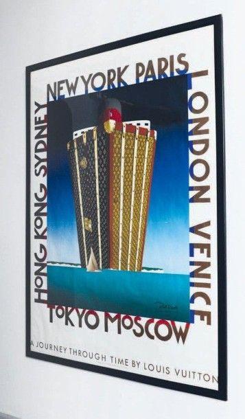 Affiche encadrée Louis Vuitton. A journey...