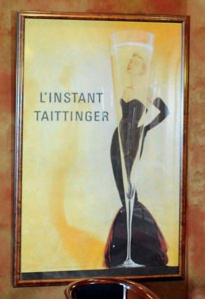 Affiche encadrée L'instant Taittinger H_180...