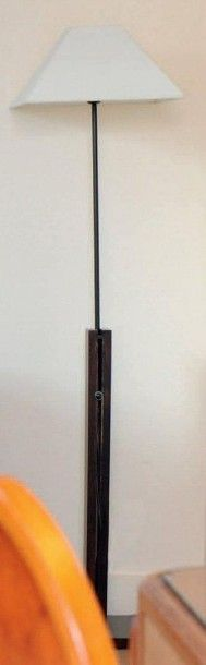 Lampe de parquet en bois teinté ajustable...