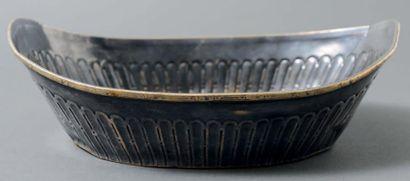 Corbeille à pain en métal argenté de forme...