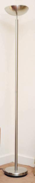 Lampe de parquet en métal brossé H_181 c...