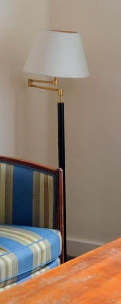 Lampe de parquet formant liseuse en métal...
