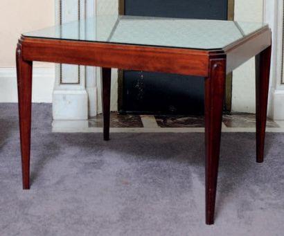 Table basse carrée à pieds gaine de style...