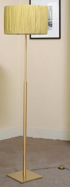 Lampe de parquet en métal doré - Peters design....