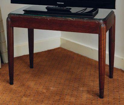 Table d'appoint rectangulaire, piètement...