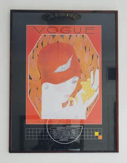 Affiche encadrée Vogue d'après Lepape H_82...