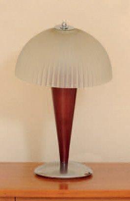 Paire de lampes de chevet en métal, bois...