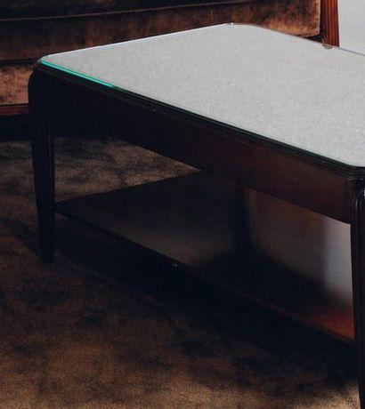 Table basse rectangulaire à double plateau...