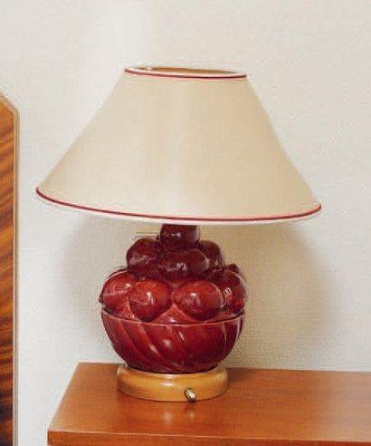 Paire de lampes de chevet en faience en forme...