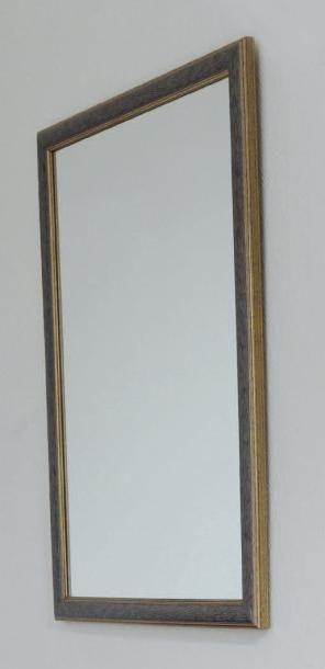 Miroir rectangulaire à baguette à godrons....