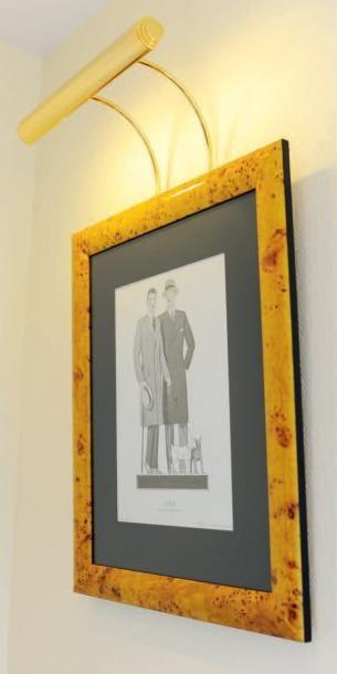 Ensemble de trois reproductions encadrées sur la mode masculine des années 20. H_60...