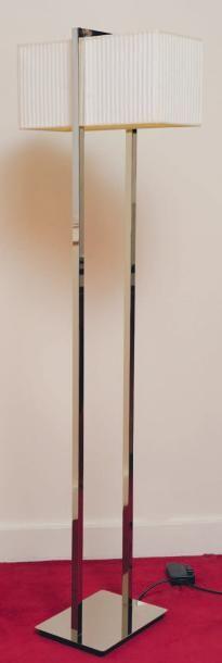 Lampe de parquet en métal chromé. H_149 ...