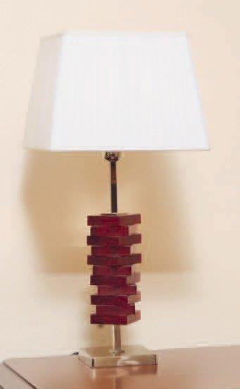 Paire de lampes de table en métal chromé...