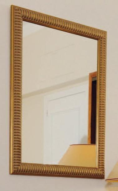 Grand miroir rectangulaire baguettes simulant...