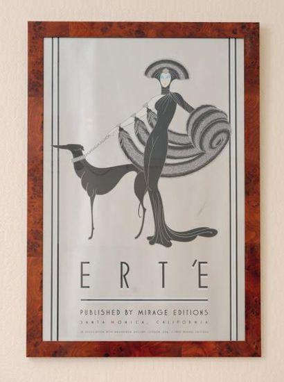 Une affiche de Erté encadrée H_83 cm L_60...