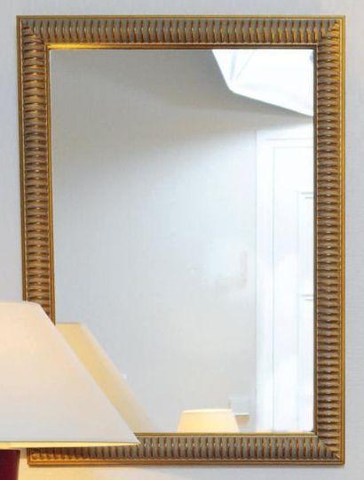 Miroir rectangulaire à godrons H_80 cm L_58...