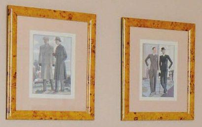 Les dandys, trois reproductions H_38 cm L_26...