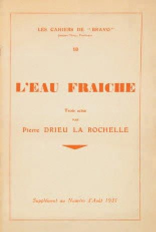 DRIEU LA ROCHELLE Pierre