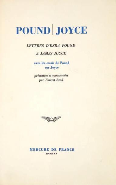 [JOYCE James]. POUND Ezra
