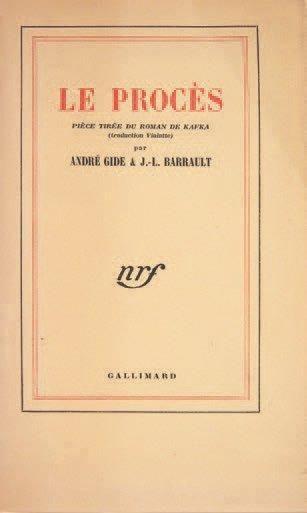 [KAFKA Franz] GIDE André. BARRAULT Jean-Louis