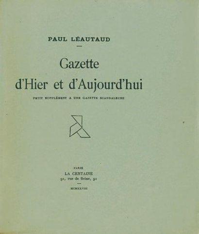 LÉAUTAUD Paul