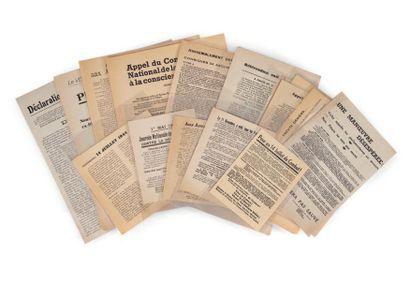 [RESISTANCE.] Rare ensemble de 17 tracts...