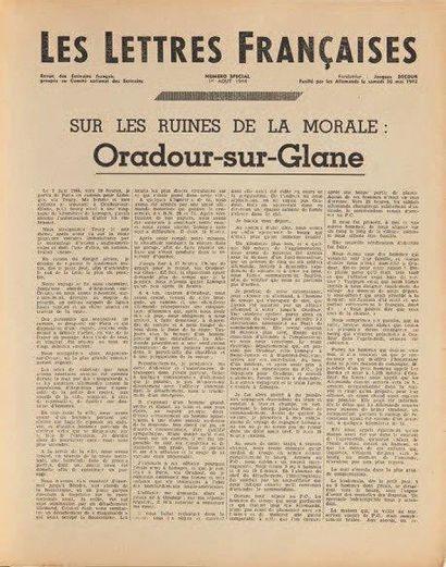 [RESISTANCE.] ORADOUR. Les Lettres Françaises....