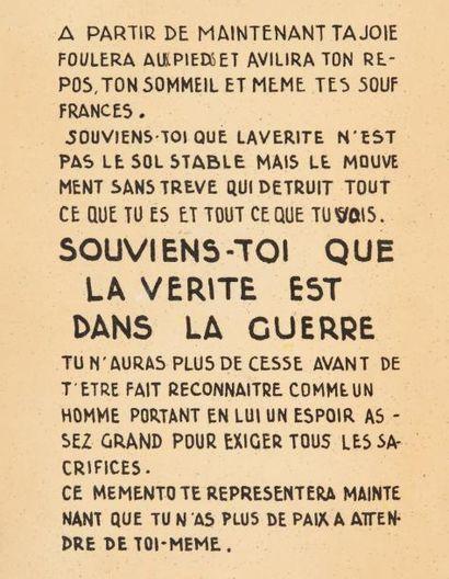 BATAILLE Georges A partir de maintenant... s.l.s.d. 1939. In-8 carré (180 x 137 mm),...