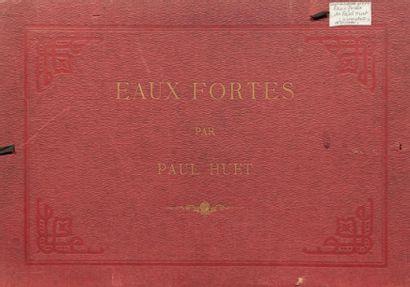 Paul HUET (1803-1869) Maison de garde à Compiègne - Saulée aux environs de Paris...